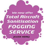 We now offer a total aircraft sanitation and fogging service - click here for info